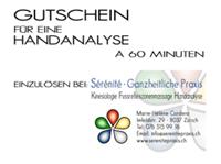Preise Handanalyse Gutschein Sérénité Praxis Zürich