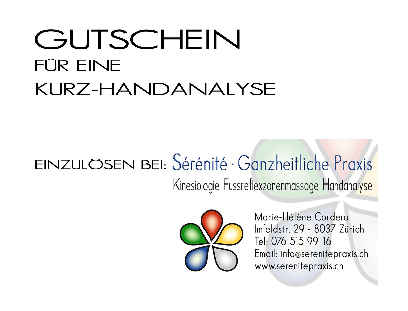 Handanalyse Gutschein Kurzanalyse