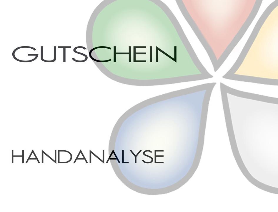 Handanalyse Gutschein Vorderseite