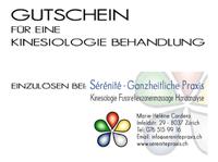 Preise Gutschein Kinesiologie Sérénité Praxis Zürich